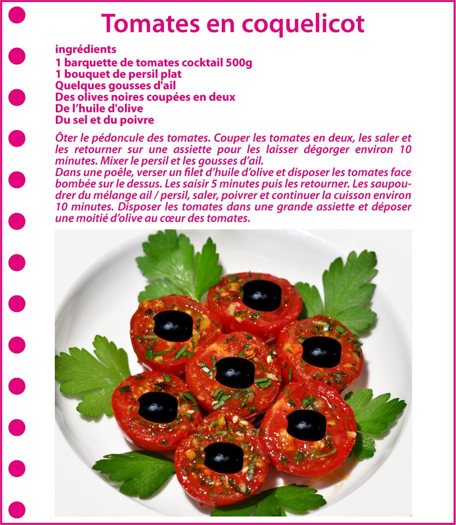 Recette : Tomates en coquelicot