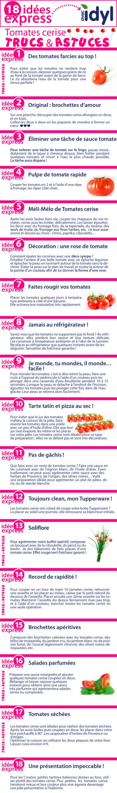 12 idées express pour cuisiner les tomates cerise - trucs et astuces - Idyl